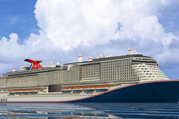 Carnival's new hull design (Image: Carnival Cruise Line)