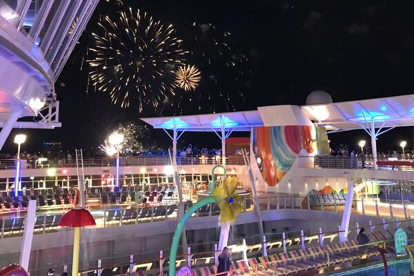 Fireworks Continue the Celebration onboard Symphony of the Seas (Photo: Gina Kramer/Cruise Critic)