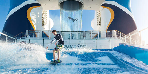 Anthem of the Seas' FlowRider surf simulator  (Photo: Royal Caribbean)