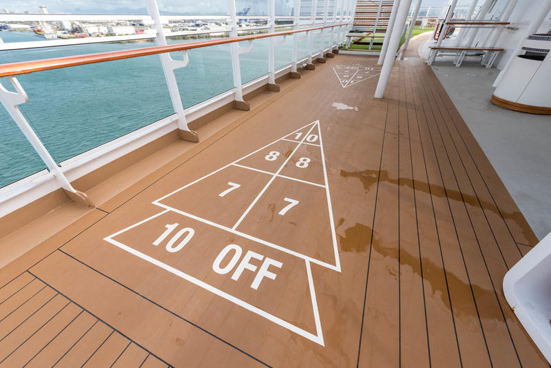 Shuffleboard on Viking Sea