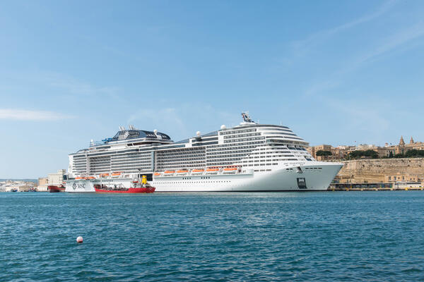 Ship Exterior on MSC Meraviglia