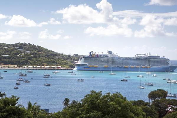 Quantum of the Seas Docked in St. Thomas (Photo: Royal Caribbean International)