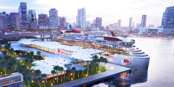 Virgin Voyages' PortMiami terminal (Image: Virgin Voyages)