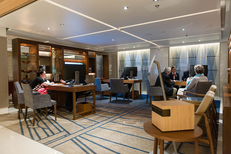 Shore Excursions Desk on Viking Sky