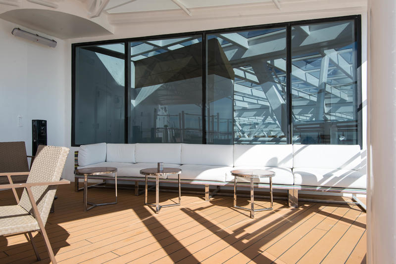 Smoking Area on Viking Sky