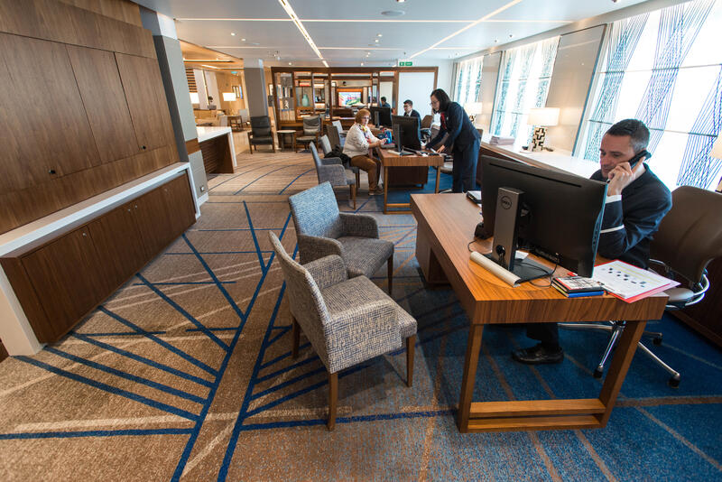 Guest Services Desk on Viking Sky