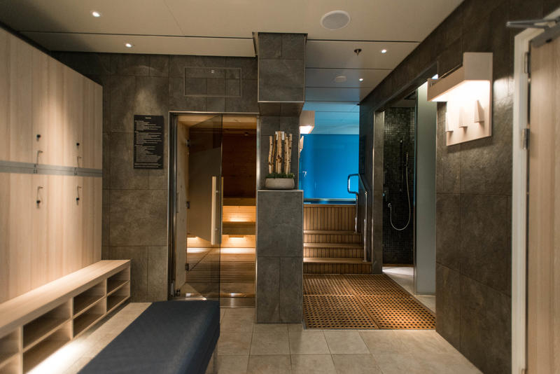 Spa Locker Room on Viking Sky