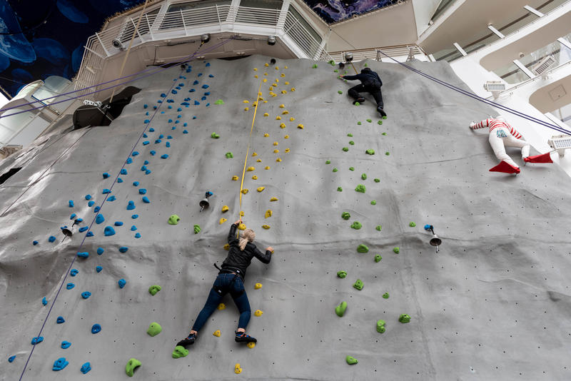 Rock Climbing Wall on Symphony of the Seas
