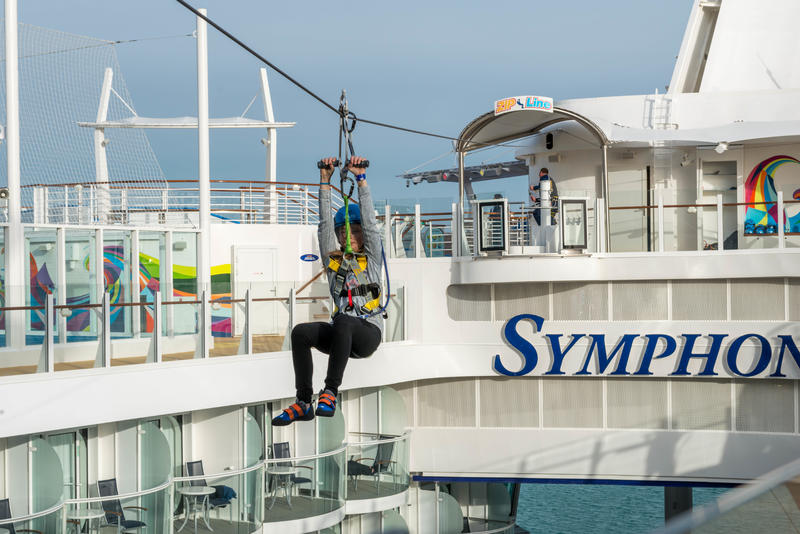 Zipline on Symphony of the Seas