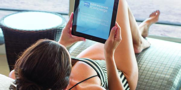 iConcierge app on Norwegian Cruise Line (Photo: Norwegian)