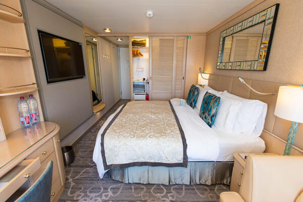 The Deluxe Cabin with Verandah on Crystal Symphony