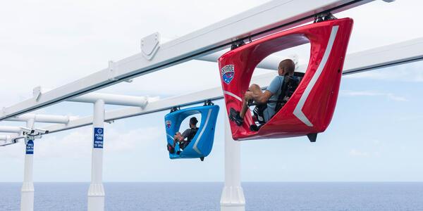 The Skyride race course on Carnival Horizon (Photo: Cruise Critic)