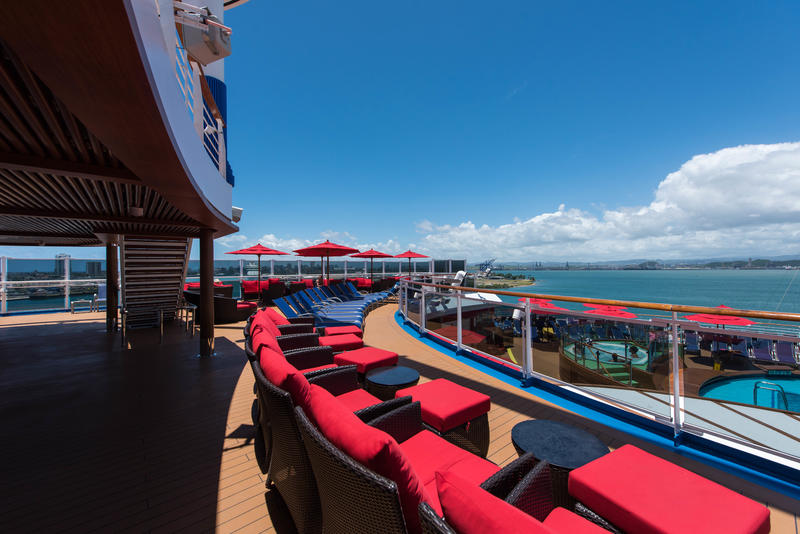 Sun Decks on Carnival Horizon