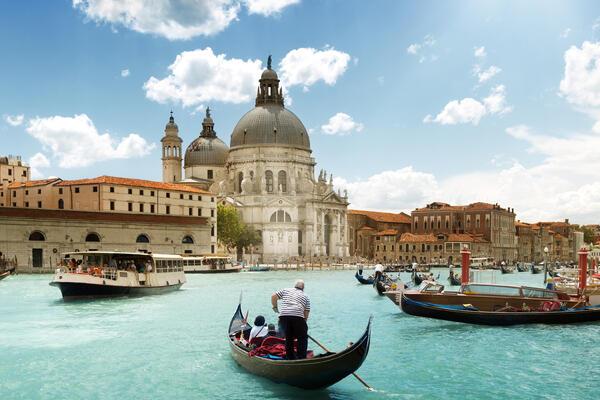 Grand Canal and Basilica Santa Maria della Salute, Venice, Italy (Photo: ESB Professional/Shutterstock)
