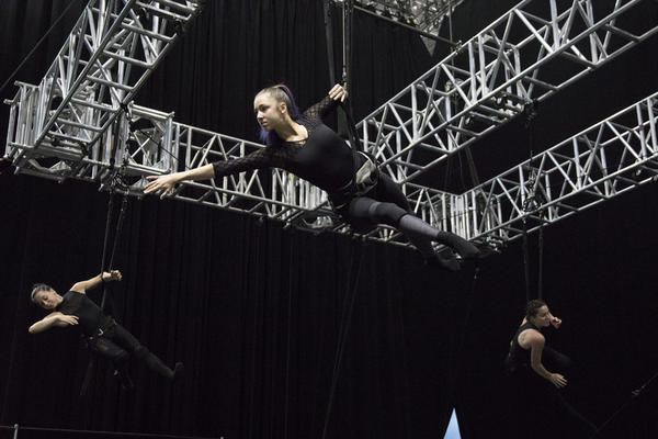 Acrobat rehearsing for MSC's new Cirque du Soleil shows to debut on MSC Bellissima (Photo: MSC Cruises)