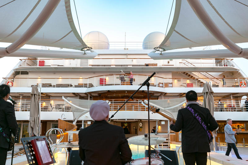 End of Cruise Celebration Dance Party on Seabourn Ovation