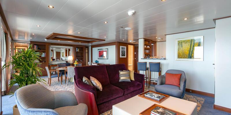 The Wintergarden Suite on Seabourn Ovation