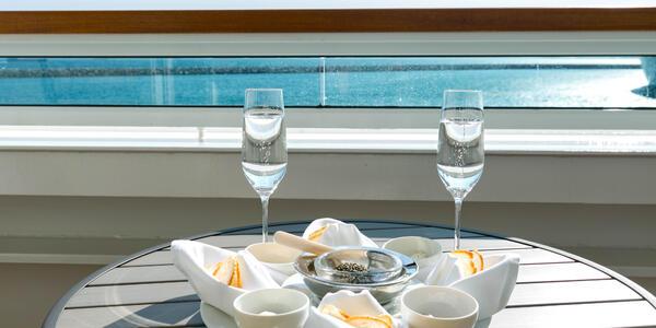 Complimentary Caviar on Seabourn Ovation