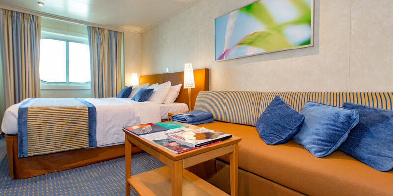 The Deluxe Ocean-View Cabin on Carnival Vista (Photo: Cruise Critic)