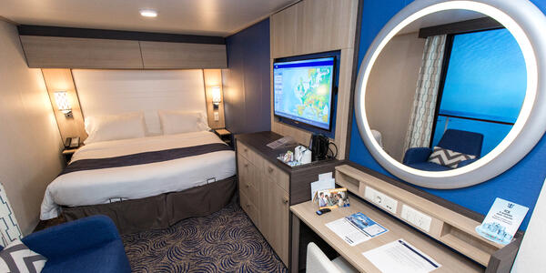 The Interior Cabin with Virtual Balcony on Anthem of the Seas (Photo: Cruise Critic)