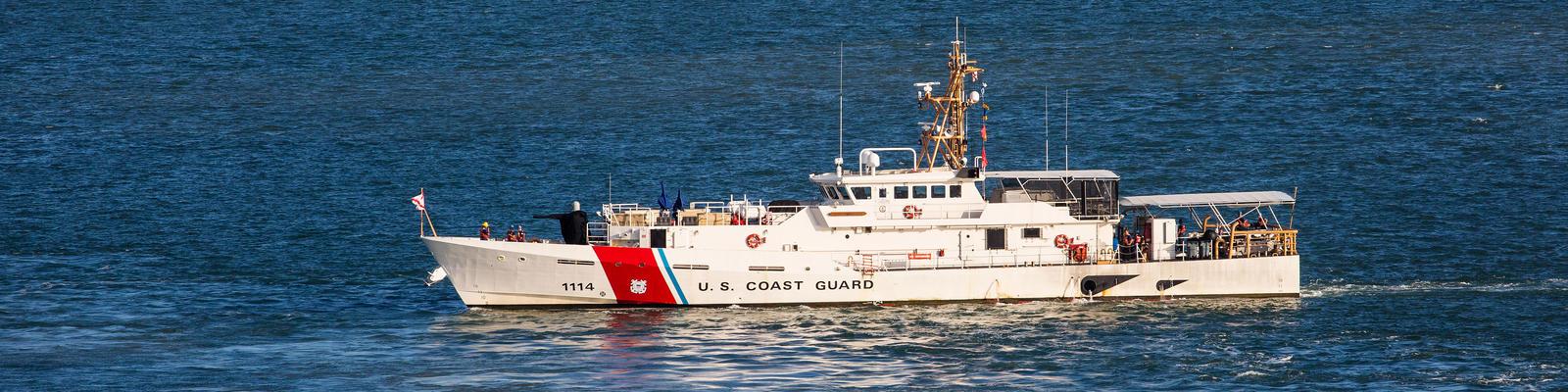 Coast Guard Navigating Near a Port of San Juan (Photo: Carlos Yudica/Shutterstock)