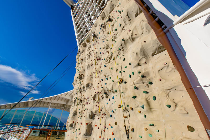 Rock Climbing Wall on Mariner of the Seas
