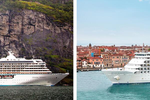 Crystal Cruises vs. Regent Seven Seas Cruises (Photo: Crystal & Regent Seven Seas)