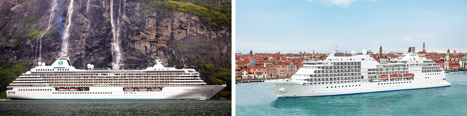 Crystal Cruises vs. Regent Seven Seas Cruises (Photo: Crystal & Regent Seven Seas)