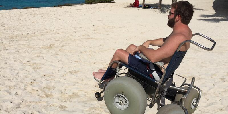 John Sage, owner and founder of Accessible Travel Solutions on a shore excursion in Cozumel, Mexico  (Photo: Silversea Cruises)