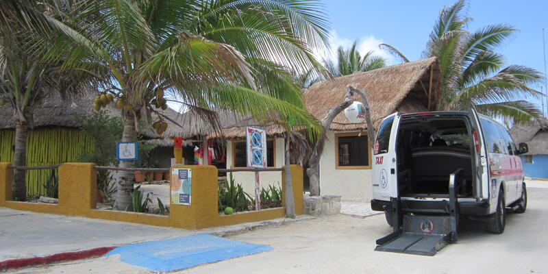 An accessible van in use for a shore excursion in Cozumel, Mexico (Photo: Silversea Cruises)