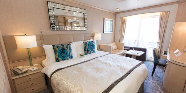 The Deluxe Cabin with Verandah on Crystal Symphony (Photo: Cruise Critic)