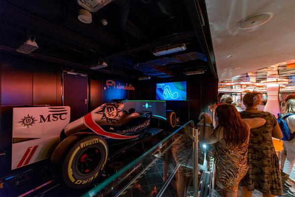 F1 Simulator on MSC Seaview: MSC Seaview Cruise Ship