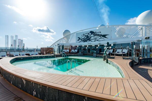 MSC Yacht Club Pool on MSC Seaview (Photo: Cruise Critic)