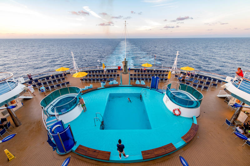 Sunset Pool on Carnival Dream