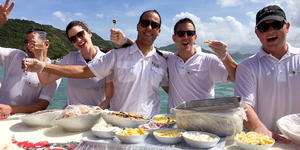 Caviar in the Surf by Seabourn (Photo: Seabourn)