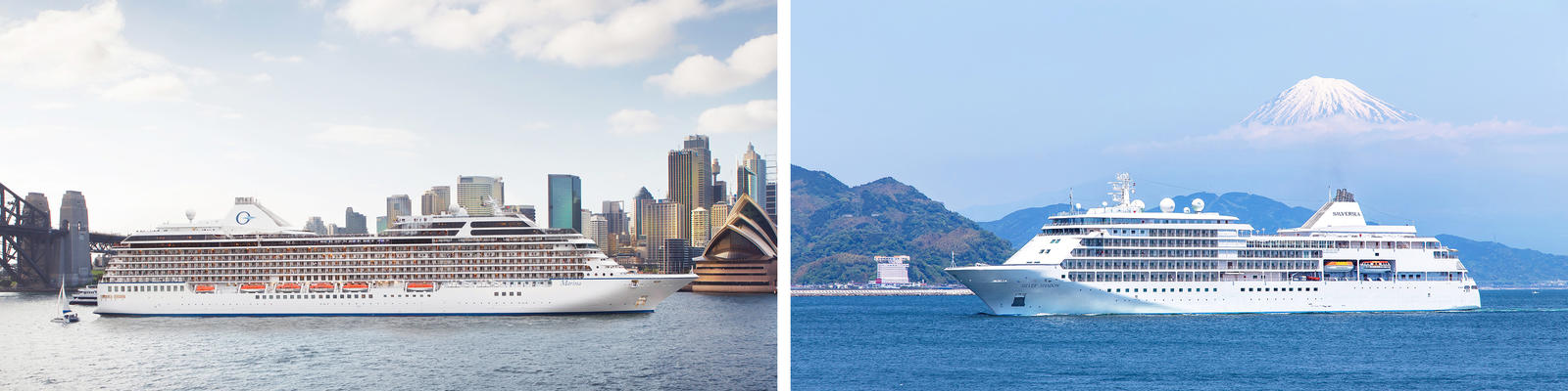 Oceania Cruises vs. Silversea (Photo: Oceania & Silversea)