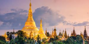 Yangon, Myanmar View of Shwedagon Pagoda at Dusk (Photo: ESB Professional/Shutterstock)