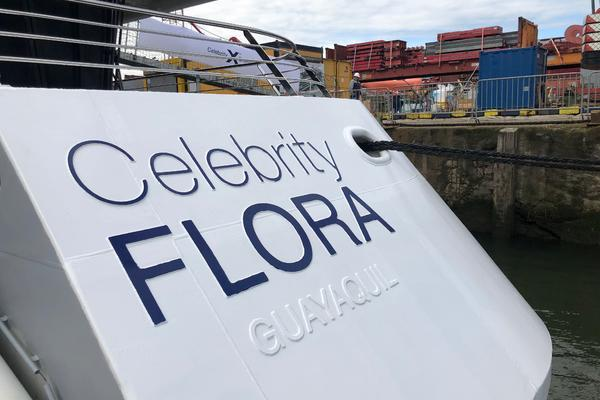 Celebrity Flora at the shipyard in Holland (Photo: Cruise Critic/ Adam Coulter)