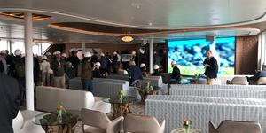 The Discovery Lounge onboard Celebrity Flora (Photo: Cruise Critic/ Adam Coulter)