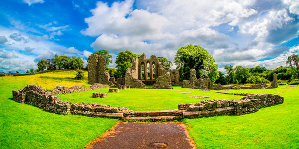 Inch Abbey Monastery ruins in Northern Ireland - Photography by Lyd Photography via Shutterstock