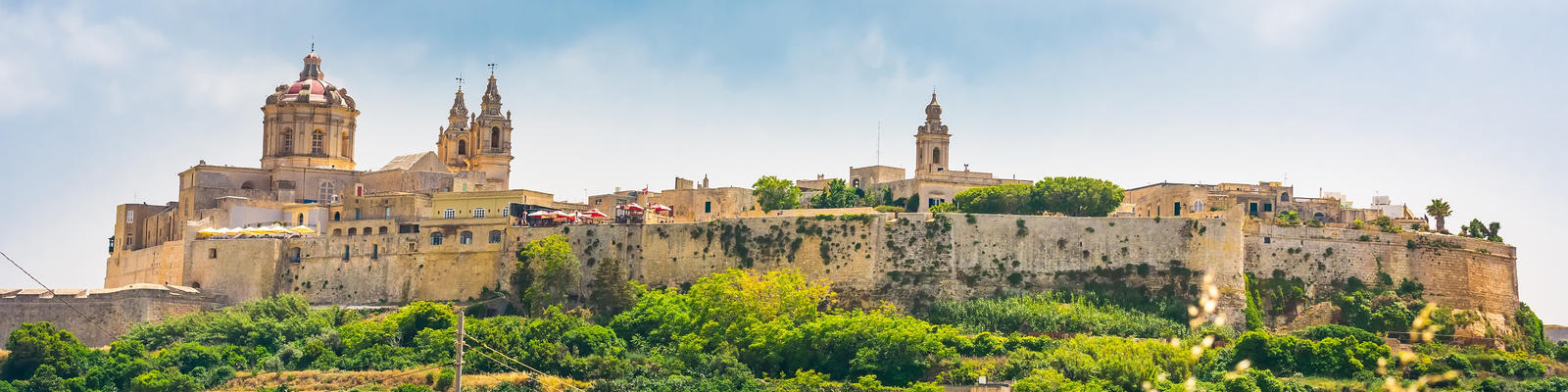 Photograph of the historic fortress city of Mdina in Malta, which served as the filming location for King's Landing in season one of Game of Thrones  Photography by In Green via Shutterstock)