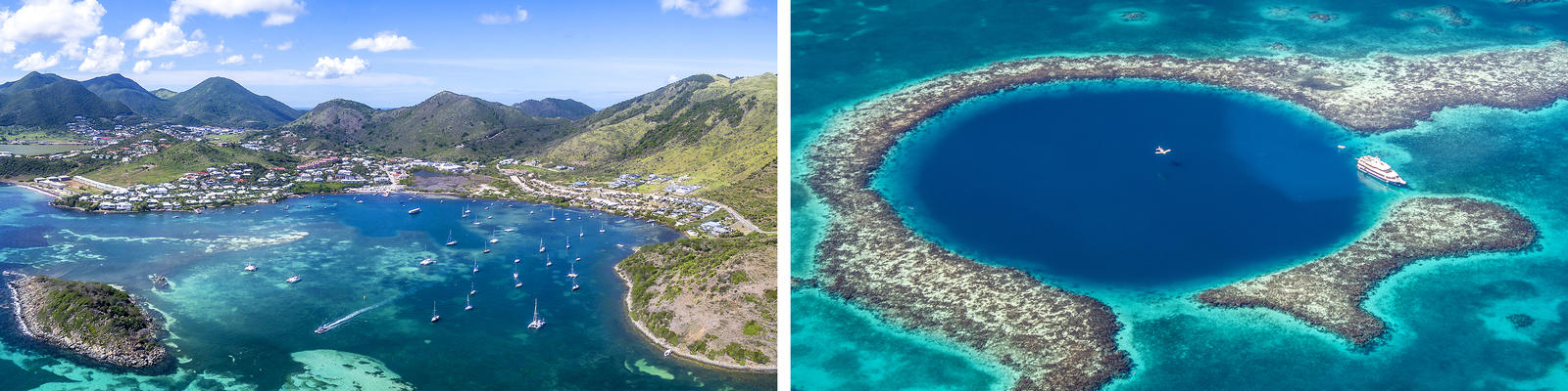 St. Martin Beach and The Great Blue Hole in Belize (Photo: thierry dehove & Globe Guide Media Inc/Shutterstock)