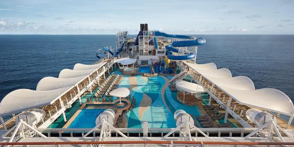 Photograph of the main pool on Norwegian Joy - Photography courtesy of Norwegian Cruise Line)