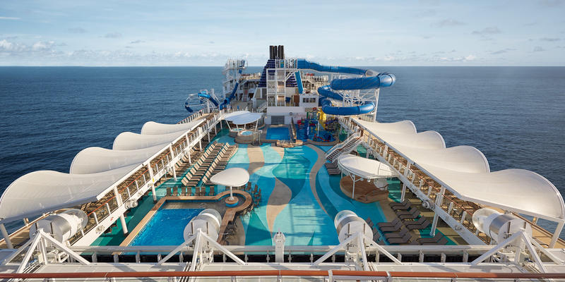 Photograph of the main pool on Norwegian Joy - Photography courtesy of Norwegian Cruise Line)