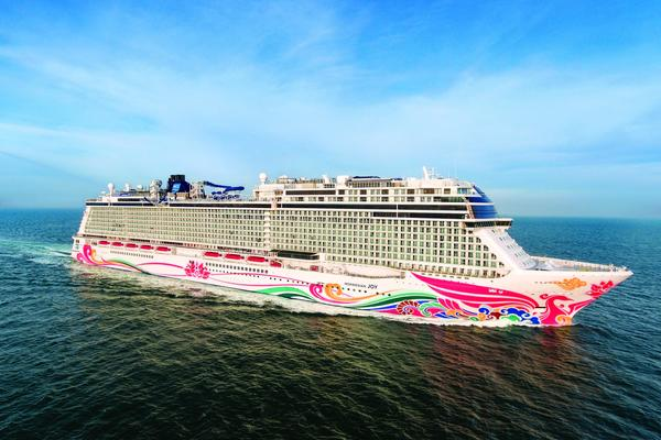 Exterior photo of Norwegian Joy - photography by Norwegian Cruise Line
