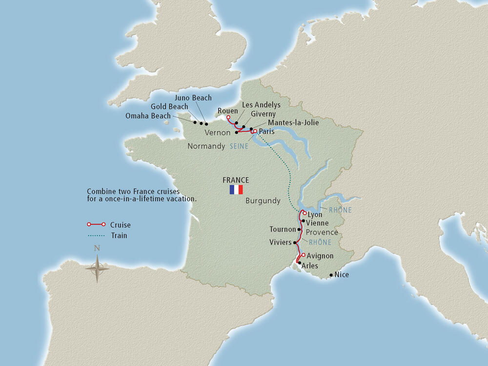 Map Of France Rivers.Rhone River Cruise Map Cruise Critic