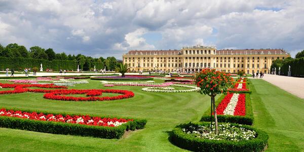 Photograph of Schonbrunn Palace Gardens in Vienna, Austria - Photography by Telegin Sergey via Shutterstock