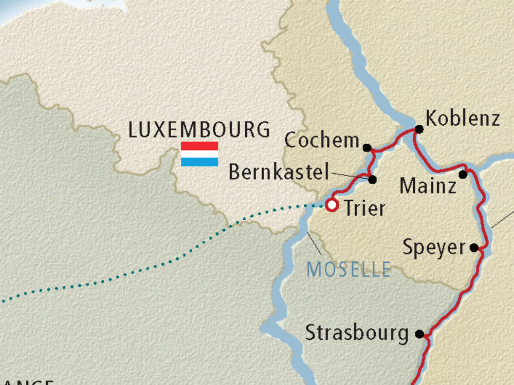 Map Of France And Luxembourg.Moselle River Cruise Map Cruise Critic