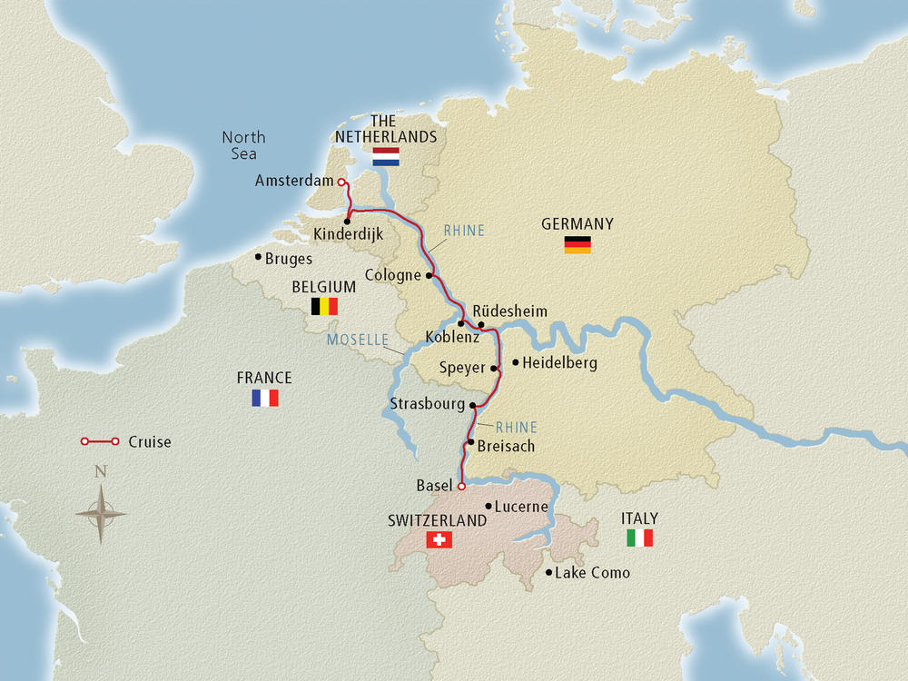 map of europe rhine river Rhine River Cruise Map