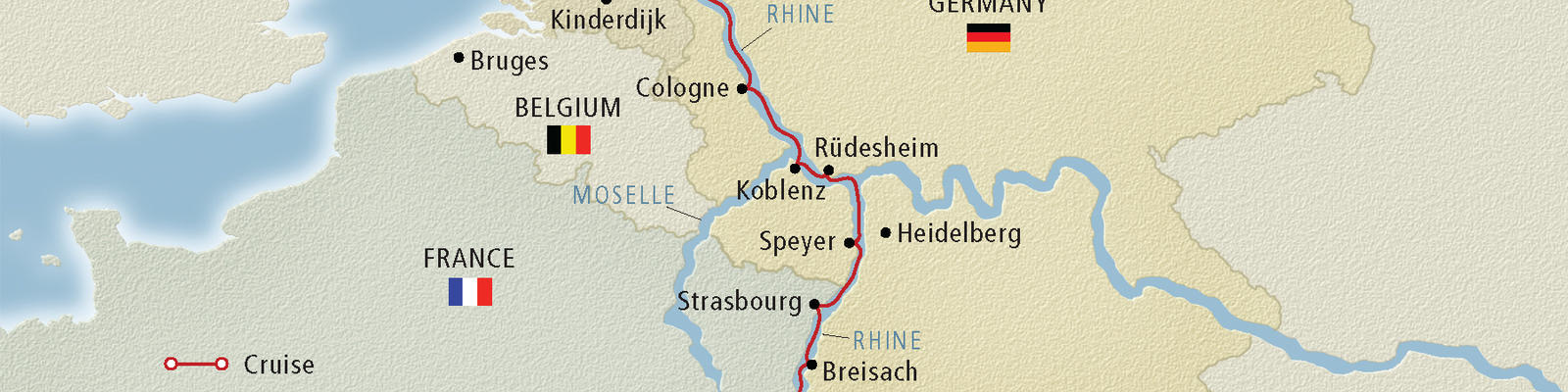 Map Of Rhine River Rhine River Cruise Map   Cruise Critic